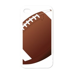 Football American Sport Ball Apple Iphone 4 Case (white) by Alisyart