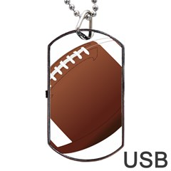 Football American Sport Ball Dog Tag Usb Flash (one Side) by Alisyart