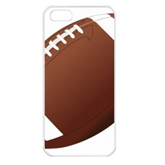 Football American Sport Ball Apple Iphone 5 Seamless Case (white) by Alisyart
