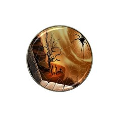Digital Art Nature Spider Witch Spiderwebs Bricks Window Trees Fire Boiler Cliff Rock Hat Clip Ball Marker (4 Pack) by Simbadda
