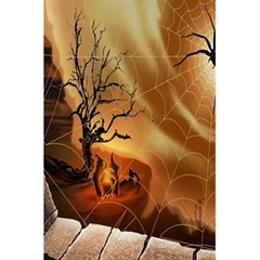 Digital Art Nature Spider Witch Spiderwebs Bricks Window Trees Fire Boiler Cliff Rock 5 5  X 8 5  Notebooks by Simbadda