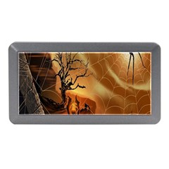 Digital Art Nature Spider Witch Spiderwebs Bricks Window Trees Fire Boiler Cliff Rock Memory Card Reader (mini) by Simbadda
