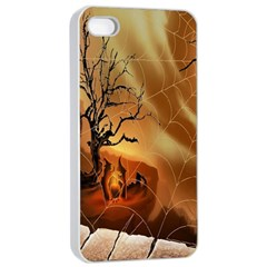 Digital Art Nature Spider Witch Spiderwebs Bricks Window Trees Fire Boiler Cliff Rock Apple Iphone 4/4s Seamless Case (white) by Simbadda