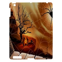 Digital Art Nature Spider Witch Spiderwebs Bricks Window Trees Fire Boiler Cliff Rock Apple Ipad 3/4 Hardshell Case by Simbadda