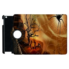 Digital Art Nature Spider Witch Spiderwebs Bricks Window Trees Fire Boiler Cliff Rock Apple Ipad 2 Flip 360 Case by Simbadda