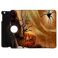 Digital Art Nature Spider Witch Spiderwebs Bricks Window Trees Fire Boiler Cliff Rock Apple Ipad Mini Flip 360 Case by Simbadda