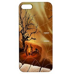 Digital Art Nature Spider Witch Spiderwebs Bricks Window Trees Fire Boiler Cliff Rock Apple Iphone 5 Hardshell Case With Stand by Simbadda