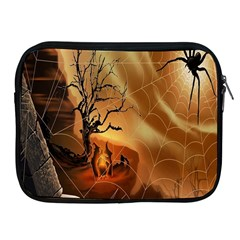 Digital Art Nature Spider Witch Spiderwebs Bricks Window Trees Fire Boiler Cliff Rock Apple Ipad 2/3/4 Zipper Cases by Simbadda