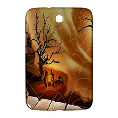 Digital Art Nature Spider Witch Spiderwebs Bricks Window Trees Fire Boiler Cliff Rock Samsung Galaxy Note 8 0 N5100 Hardshell Case  by Simbadda