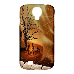 Digital Art Nature Spider Witch Spiderwebs Bricks Window Trees Fire Boiler Cliff Rock Samsung Galaxy S4 Classic Hardshell Case (pc+silicone) by Simbadda