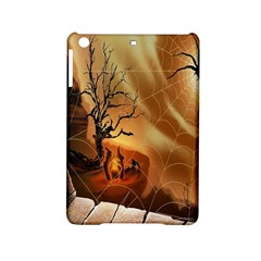 Digital Art Nature Spider Witch Spiderwebs Bricks Window Trees Fire Boiler Cliff Rock Ipad Mini 2 Hardshell Cases by Simbadda