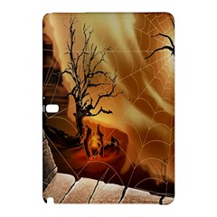 Digital Art Nature Spider Witch Spiderwebs Bricks Window Trees Fire Boiler Cliff Rock Samsung Galaxy Tab Pro 12 2 Hardshell Case by Simbadda