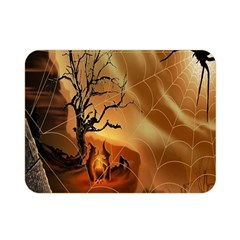 Digital Art Nature Spider Witch Spiderwebs Bricks Window Trees Fire Boiler Cliff Rock Double Sided Flano Blanket (mini)  by Simbadda