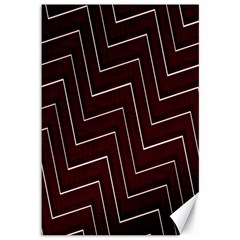 Lines Pattern Square Blocky Canvas 12  X 18   by Simbadda