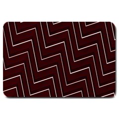 Lines Pattern Square Blocky Large Doormat  by Simbadda