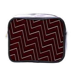 Lines Pattern Square Blocky Mini Toiletries Bags by Simbadda