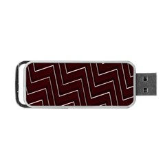 Lines Pattern Square Blocky Portable Usb Flash (two Sides) by Simbadda