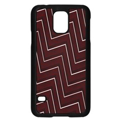 Lines Pattern Square Blocky Samsung Galaxy S5 Case (black) by Simbadda
