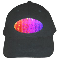 Square Spectrum Abstract Black Cap by Simbadda