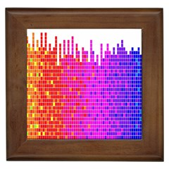 Square Spectrum Abstract Framed Tiles by Simbadda