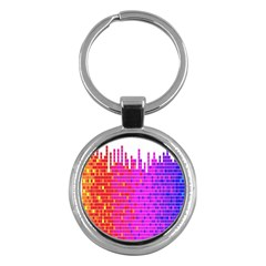 Square Spectrum Abstract Key Chains (round)  by Simbadda