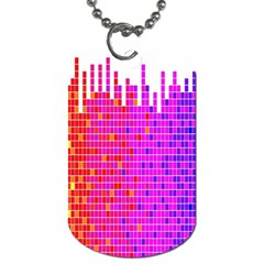 Square Spectrum Abstract Dog Tag (two Sides) by Simbadda