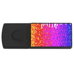 Square Spectrum Abstract Usb Flash Drive Rectangular (4 Gb) by Simbadda