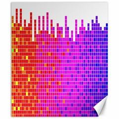 Square Spectrum Abstract Canvas 8  X 10  by Simbadda
