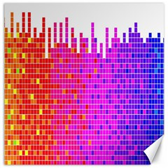 Square Spectrum Abstract Canvas 12  X 12   by Simbadda