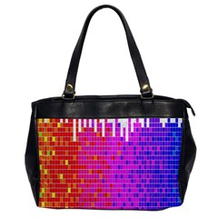Square Spectrum Abstract Office Handbags by Simbadda