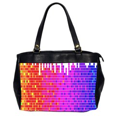 Square Spectrum Abstract Office Handbags (2 Sides)  by Simbadda