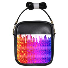 Square Spectrum Abstract Girls Sling Bags by Simbadda