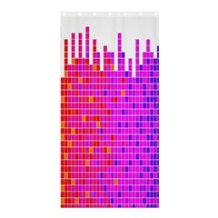 Square Spectrum Abstract Shower Curtain 36  X 72  (stall)  by Simbadda