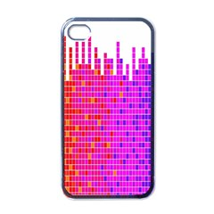 Square Spectrum Abstract Apple Iphone 4 Case (black) by Simbadda