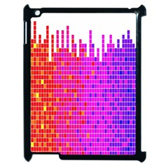 Square Spectrum Abstract Apple Ipad 2 Case (black) by Simbadda