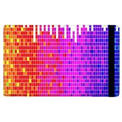 Square Spectrum Abstract Apple Ipad 2 Flip Case by Simbadda