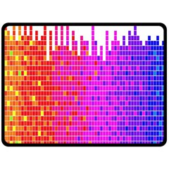 Square Spectrum Abstract Double Sided Fleece Blanket (large)  by Simbadda