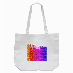 Square Spectrum Abstract Tote Bag (white) by Simbadda