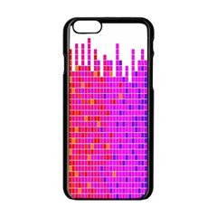 Square Spectrum Abstract Apple Iphone 6/6s Black Enamel Case by Simbadda