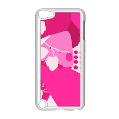 Flower Floral Leaf Circle Pink White Apple Ipod Touch 5 Case (white) by Alisyart