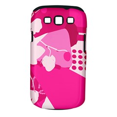 Flower Floral Leaf Circle Pink White Samsung Galaxy S Iii Classic Hardshell Case (pc+silicone) by Alisyart