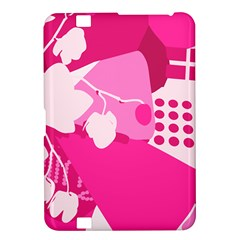 Flower Floral Leaf Circle Pink White Kindle Fire Hd 8 9  by Alisyart