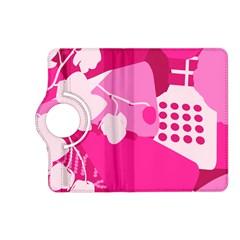 Flower Floral Leaf Circle Pink White Kindle Fire Hd (2013) Flip 360 Case by Alisyart
