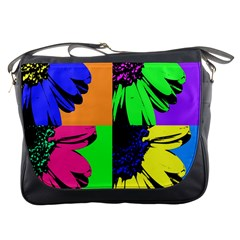 Flower Pop Sunflower Messenger Bags by Alisyart