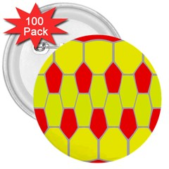 Football Blender Image Map Red Yellow Sport 3  Buttons (100 Pack)  by Alisyart