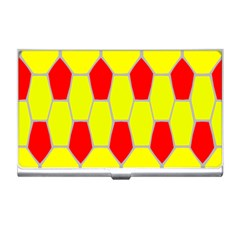 Football Blender Image Map Red Yellow Sport Business Card Holders by Alisyart