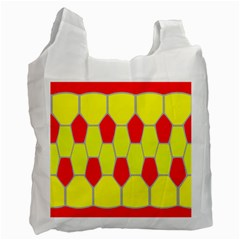 Football Blender Image Map Red Yellow Sport Recycle Bag (one Side) by Alisyart