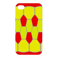 Football Blender Image Map Red Yellow Sport Apple Iphone 4/4s Premium Hardshell Case by Alisyart