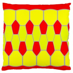 Football Blender Image Map Red Yellow Sport Standard Flano Cushion Case (one Side) by Alisyart