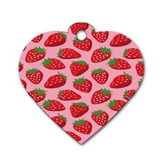 Fruit Strawbery Red Sweet Fres Dog Tag Heart (one Side) by Alisyart
